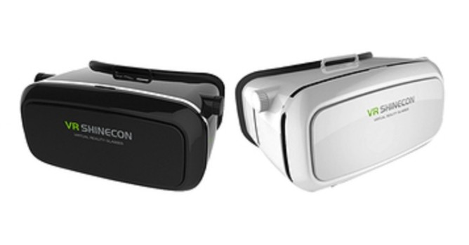 The Shinecon comes in two colors, black and white.