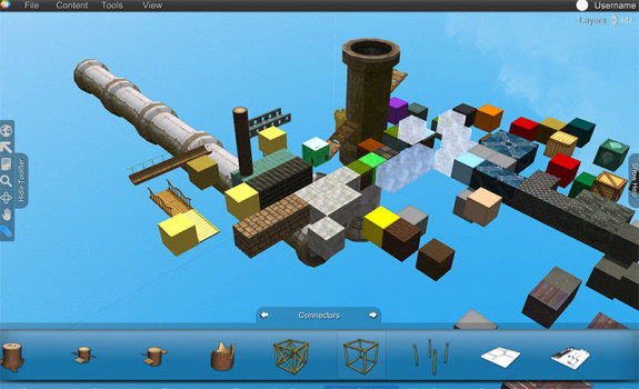 Some of the objects already available in the Voxelus platform. (Image courtesy Voxelus.)