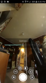 Adjusting the contrast on a 360fly video.