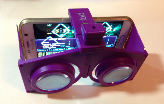 The VR Fold with a Samsung Galaxy S6 smartphone.