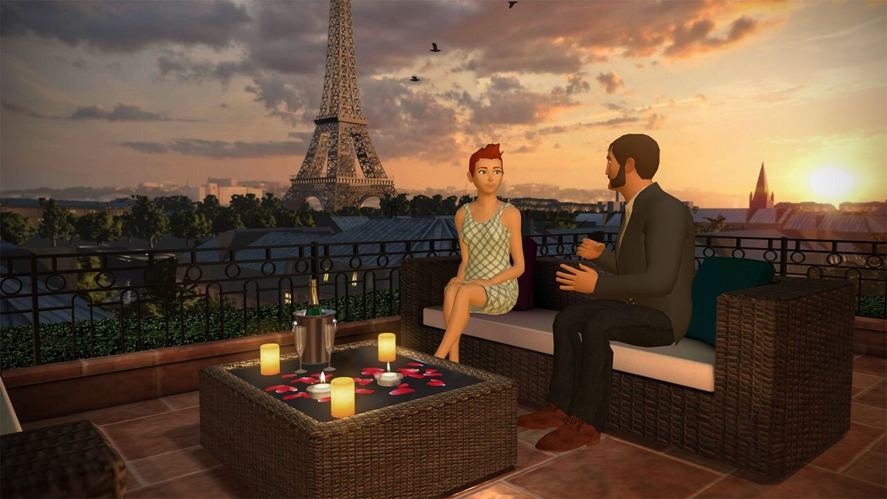 Long-distance relationships in VR