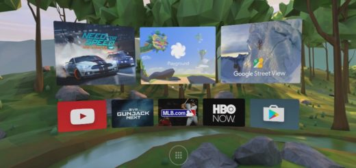 Google's Daydream home screen and app switcher.