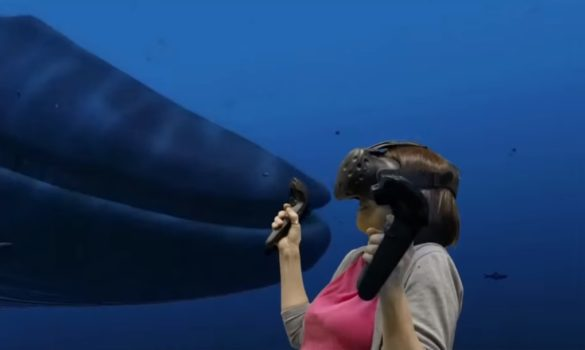 TheBlu virtual experience. (Image courtesy HTC Vive.)