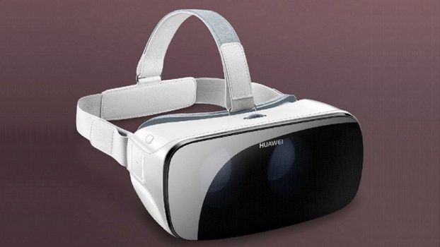 The just-announced Huawei VR headset will only work with the latest Huawei smartphones, and includes a Gear VR-style trackpad and button on the right side. (Image courtesy Huawei.)