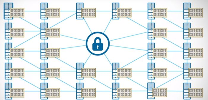 Blockchain diagram. (Image courtesy IBM.)
