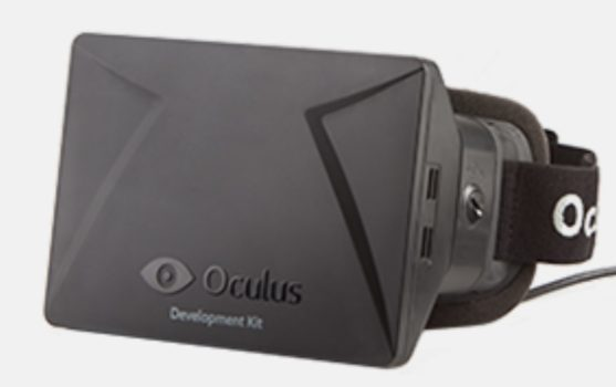 The first development kit version of the Oculus Rift.