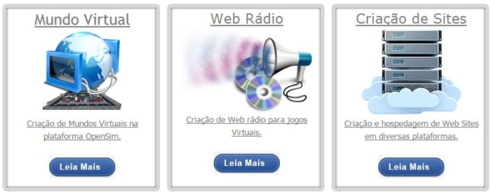 OpenSim Brasil offers grid and website hosting, as well as web radio services.