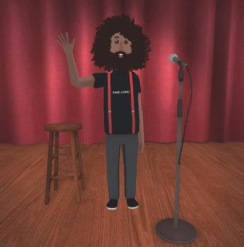 Reggie Watts' avatar. (Image courtesy Altspace VR.)