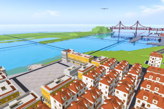 Virtual Lisbon on Loff Virtual Worlds. (Image courtesy Carlos Loff.)