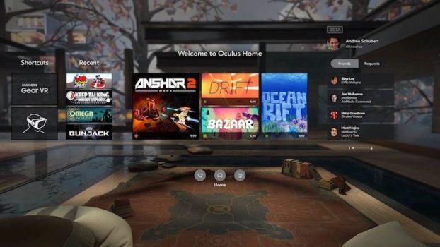 Gear VR home area. (Image courtesy Oculus VR.)