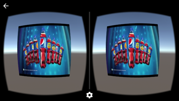 An interstitial video ads in side a virtual reality experience. (Image courtesy VadR.)