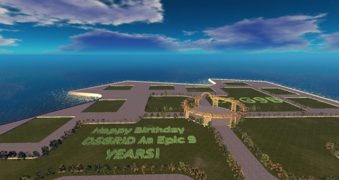 The OSG9BE region on OSgrid.