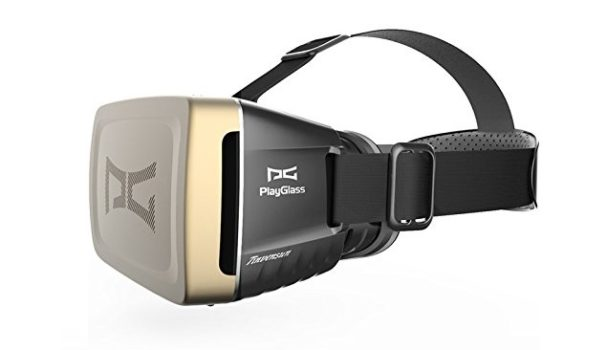 The Playglass virtual reality headset.
