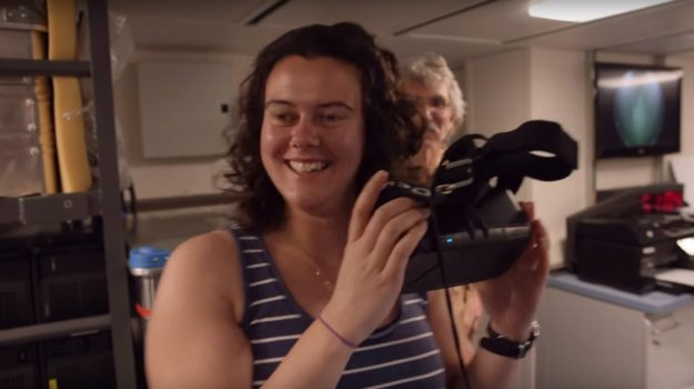 Rachel Boschen, a biologist at the University of Victoria in British Columbia, explores the ocean floor using the Oculus Rift.