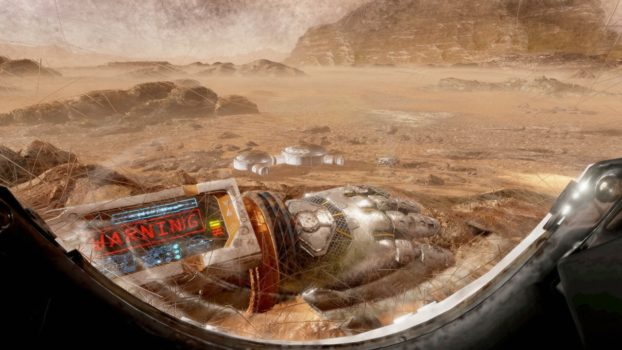 The Martian VR experience. (Image courtesy The Virtual Reality Company.)