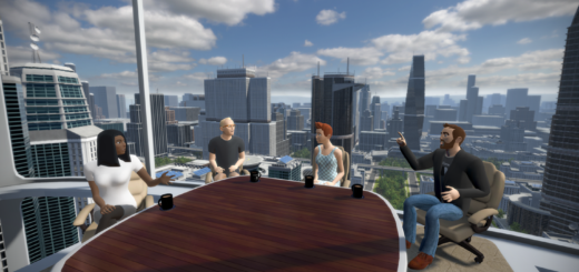 """The new """"Boardroom"""" meeting environment. (Image courtesy vTime.)"""