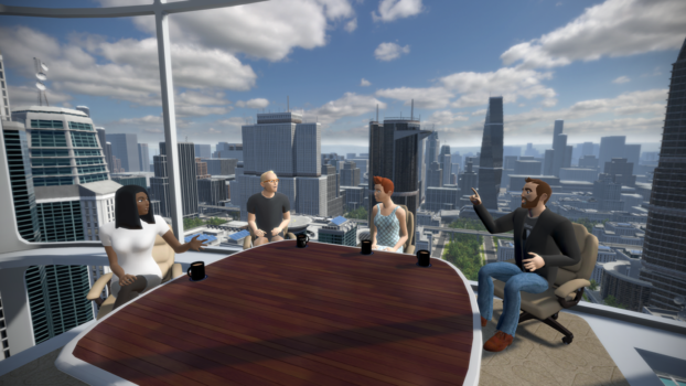 "The new ""Boardroom"" meeting environment. (Image courtesy vTime.)"