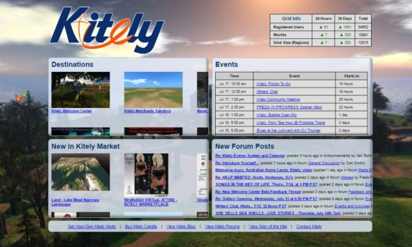 New Kitely login screen.