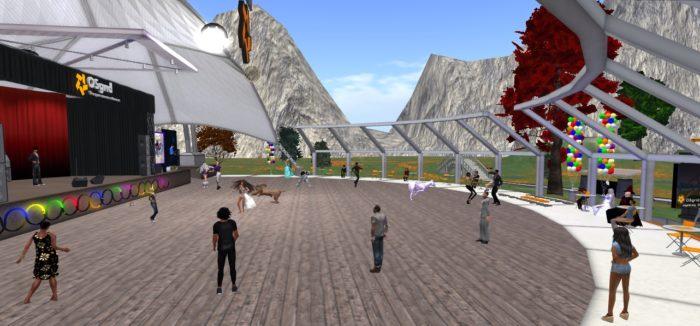 OSgrid 9th birthday celebration. (Image courtesy Avia Bonne via Google Plus.)