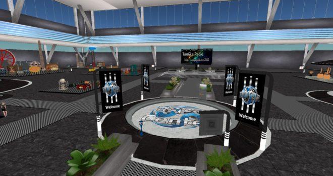 Steam Expo on Tangle Grid's Expo Isle. (Snapshot by Maria Korolov.)