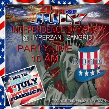 ZanGrid July 4 party