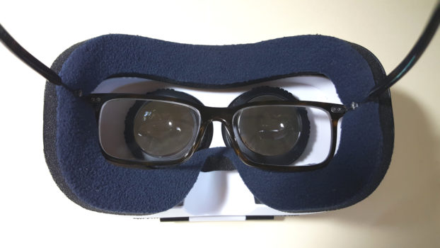 My glasses fit into the FiiT VR 2S, but it's a tight squeeze. (Photo by Maria Korolov.)