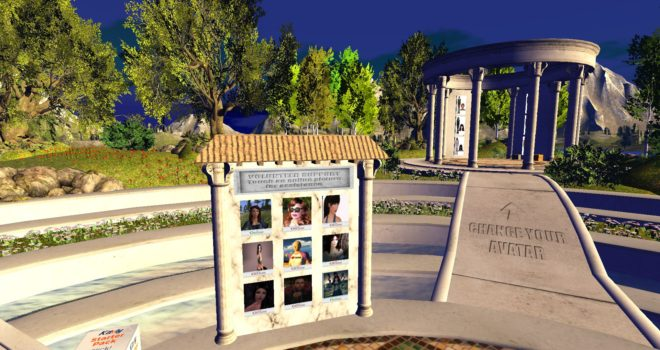 Kitely Welcome Center's volunteer support board. (Snapshot by Maria Korolov.)