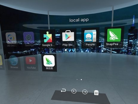 VR Sky's virtual interface. (Image courtesy GeekBuying.)