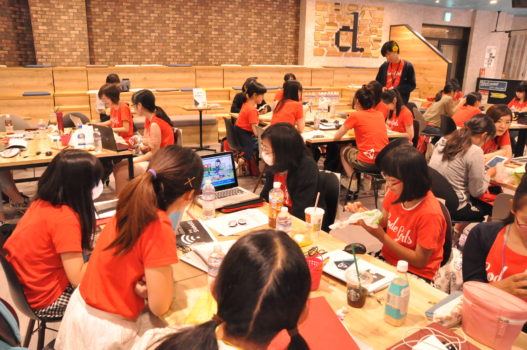 Girl coders attending an event in Japan this summer, in which Unity Japan partnered with Life is Tech. (Image courtesy Unity.)
