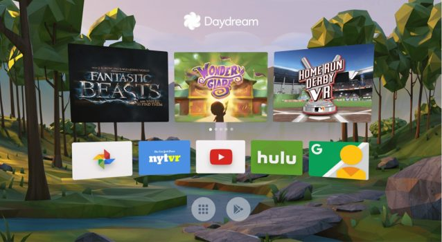 Daydream home screen. (Image courtesy Google.)