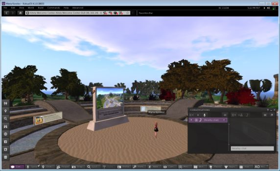 Logging in to Kitely with the new Kokua Viewer.