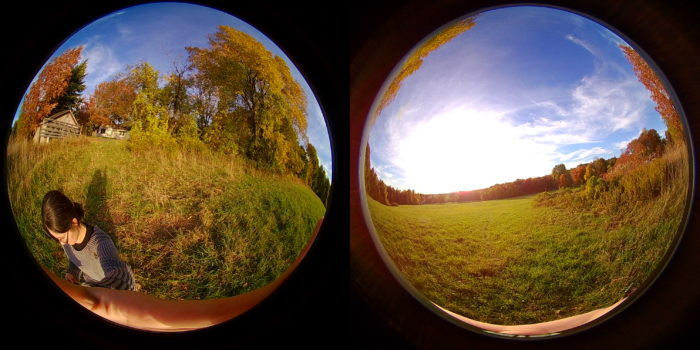 The unedited images captured by the EleCam 360 camera.