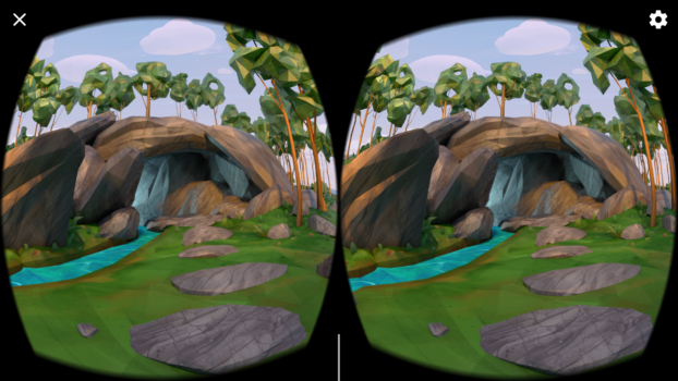 The view of the Daydream environment, if you turn around and look back.