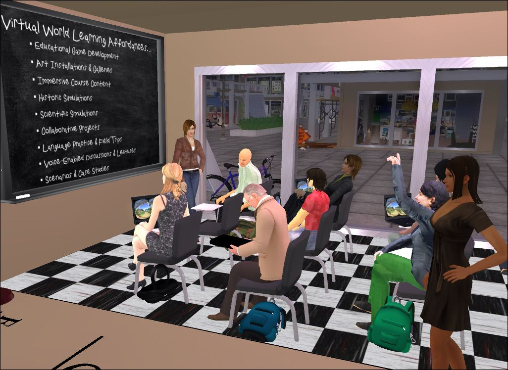 virtual worlds Tlt has been exploring and researching the educational possibilities of user- created virtual worlds, like second life, since 2004 kumc has our own private.