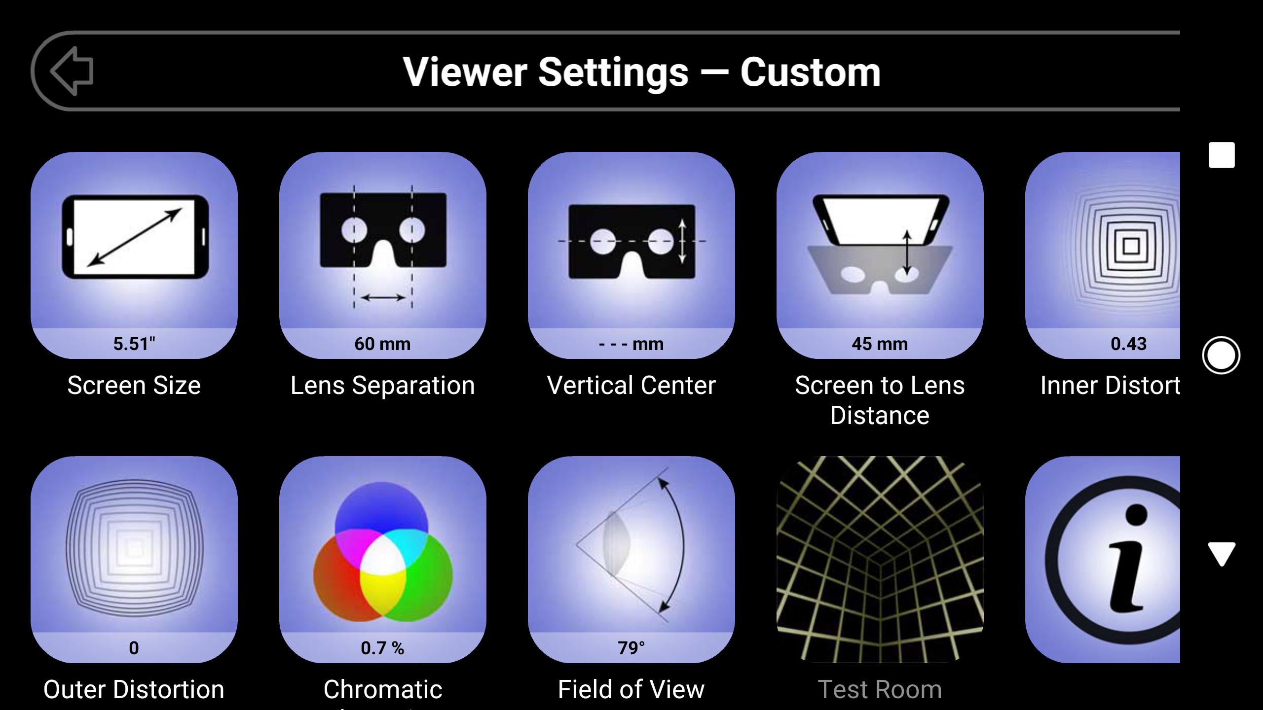 app lets you configure your vr viewer