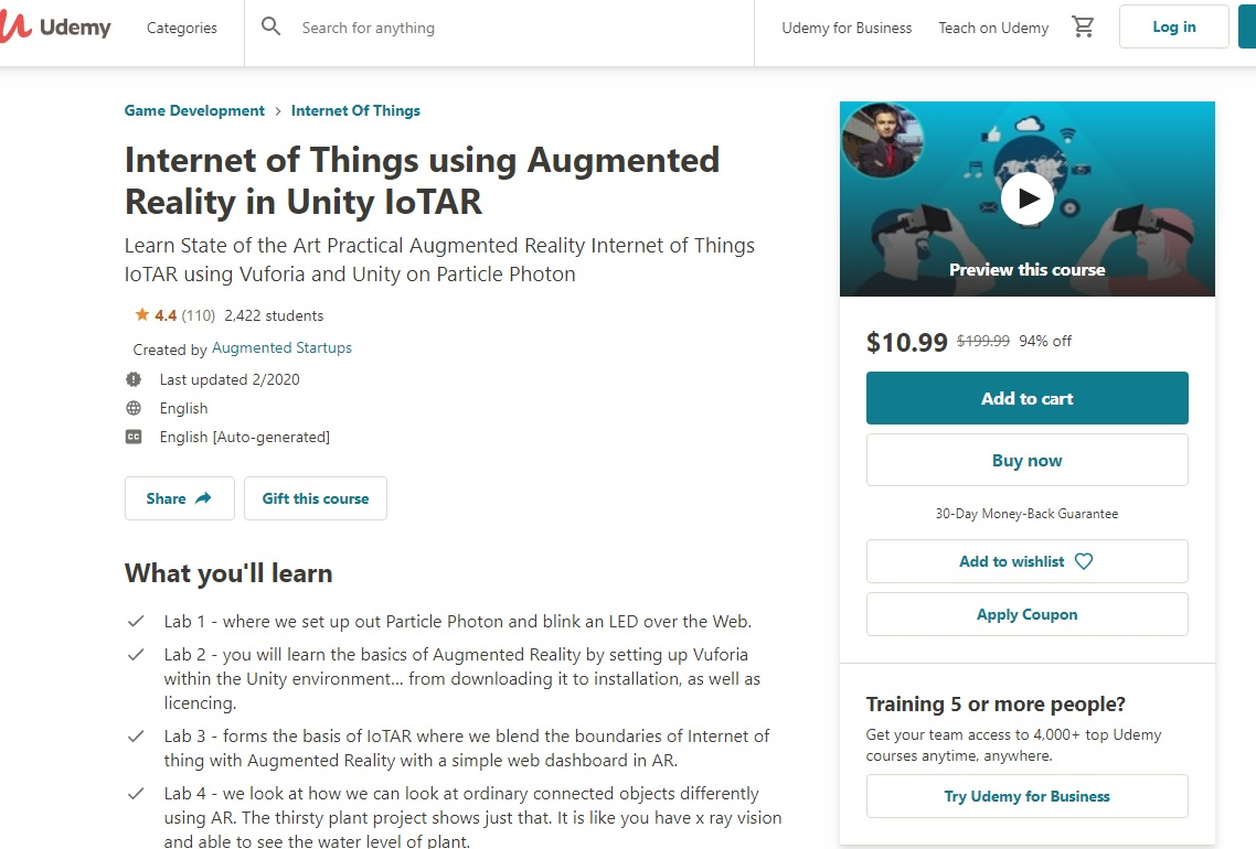 IOT and AR/VR